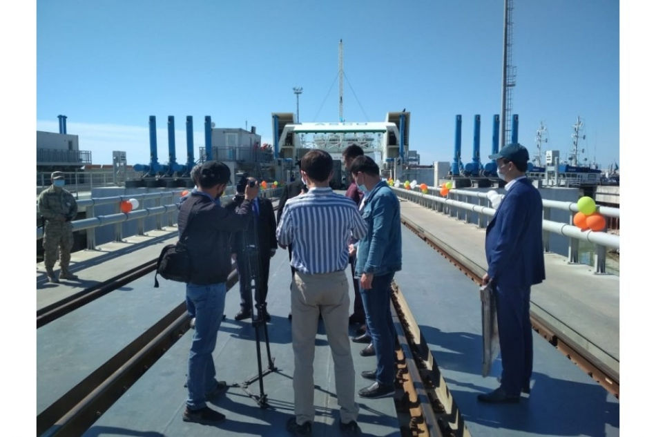 В порту Курык состоялась торжественная встреча парома «Азербайджан»