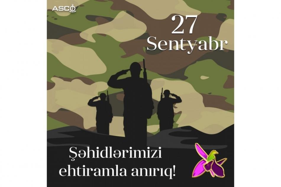 ASCO-da Vətən müharibəsində canlarından keçən Şəhidlər bir dəqiqəlik sükutla yad edilib